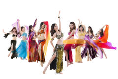 Belly dance troupe Royalty Free Stock Images