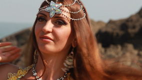 Belly dance woman stock footage
