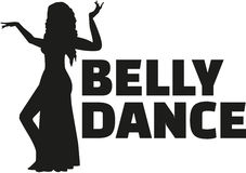 Belly dance woman. Silhouette of Belly dancing woman Royalty Free Stock Photos