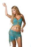 Belly Dancer. Pretty hispanic halloween belly dancer Stock Image