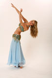 Belly dancer. Studio portrait of a fashionable belly dancer Stock Images