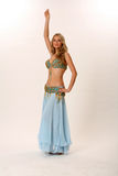 Belly dancer. Studio portrait of a fashionable belly dancer Royalty Free Stock Image