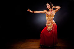 Belly dancer. A portrait of a beautiful belly dancer Stock Image