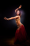 Belly dancer. A portrait of a beautiful belly dancer Royalty Free Stock Image