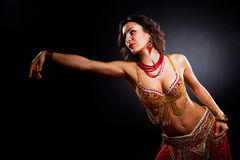 Belly dancer. A portrait of a beautiful belly dancer Royalty Free Stock Photography