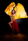 Belly dancer. A portrait of a beautiful belly dancer Royalty Free Stock Photos