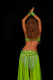 Belly Dancer. With beautiful green costume Stock Image