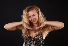 Belly dancer. Stock Photos