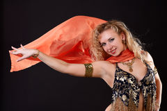Belly dancer. Royalty Free Stock Image