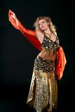 Belly dancer. Royalty Free Stock Photography