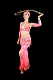 Belly dancer. In traditional dress Stock Photography