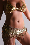 Belly Dancer. Female Belly Dancer in traditional outfit royalty free stock image