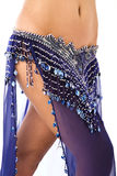 Belly dancer. Beautiful belly dancer in blue Royalty Free Stock Image