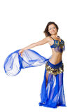 Belly Dancer in action Stock Images