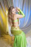 Belly dancer  in action Royalty Free Stock Images