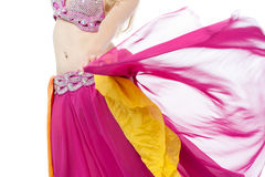 Belly dancer in action, cropped image. Stock Images