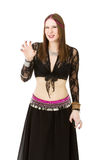 Belly dancer aggressive Stock Photography