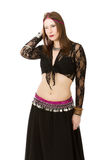Belly dancer alluring Stock Images