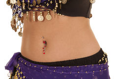 Belly dancer belly Royalty Free Stock Images