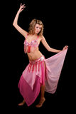 Belly dancer  on   black Stock Photo