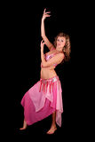 Belly dancer on black Stock Photos