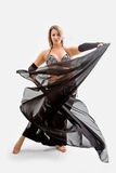 Belly dancer in black Royalty Free Stock Photo