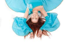 Belly Dancer in blue Royalty Free Stock Photography