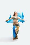 Belly dancer in blue Stock Image