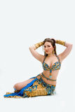 Belly dancer in blue Stock Photography