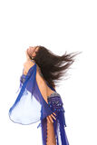 Belly dancer in blue Stock Photos