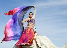 Belly Dancer and Camel Stock Photos