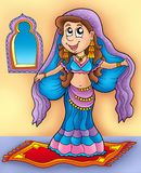 Belly dancer on carpet Stock Image