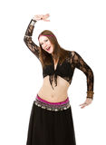 Belly dancer dancing. Person emotions and expressions portrait Stock Images