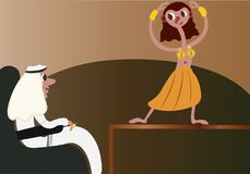 The Arab Belly Dancer. A belly dancer entertaining a guest Stock Photography