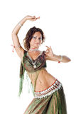 Belly Dancer in green Stock Images