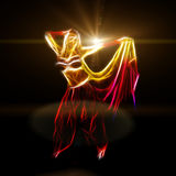 Belly dancer holding skirt Stock Image