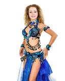 Belly dancer isolated on a white background Stock Image