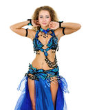 Belly dancer isolated on a white background Stock Photo