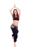 Belly dancer with long hair Royalty Free Stock Photos