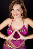 Belly Dancer Making Hand Gestures Stock Images