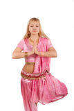 Belly dancer in meditation Royalty Free Stock Photos