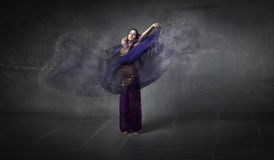 Belly dancer movement Royalty Free Stock Images