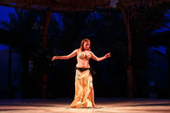 Belly dancer performing Stock Photos