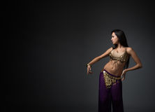 Belly dancer performing Royalty Free Stock Image