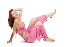 Belly dancer in pink Royalty Free Stock Photos