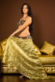 Belly dancer preforming on stage Stock Images