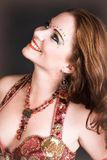 Belly Dancer in Red Stock Photo