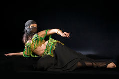 Belly dancer with saber Royalty Free Stock Photo