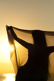 Belly dancer silhouette Stock Image