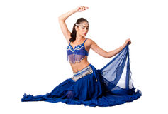 Belly dancer sitting Royalty Free Stock Photography